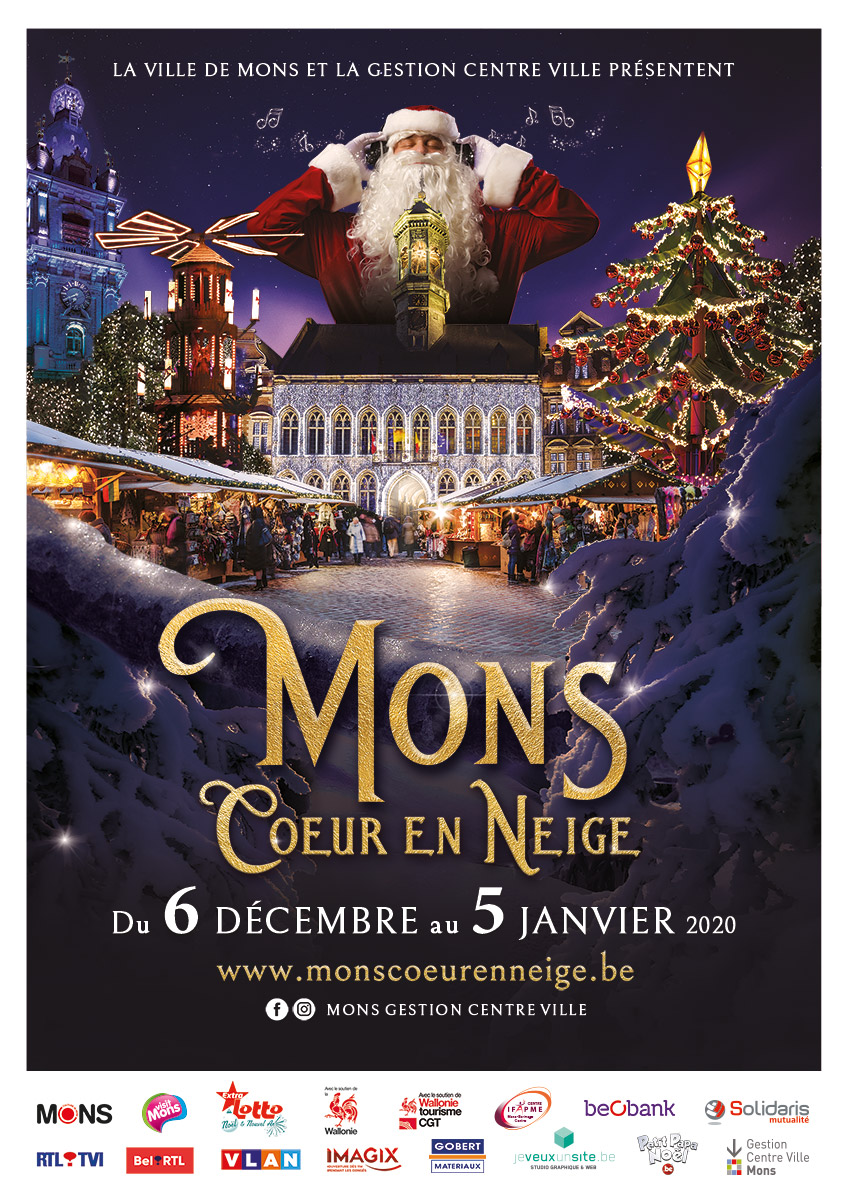 2x Noël ouverture heure Poster